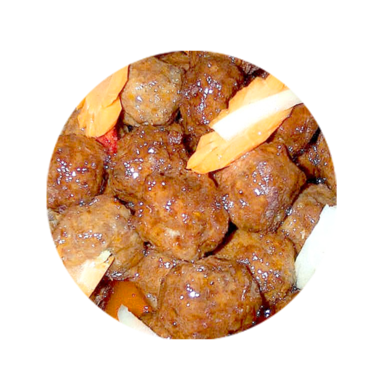 Beef Meatballs with Sweet and Sour Sauce